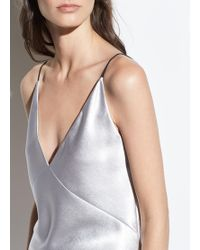 Vince - Metallic Satin V-neck Cami - Lyst