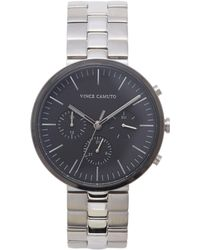 Vince Camuto - Silvertone Modern Link Watch - Lyst
