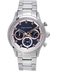 Vince Camuto - Triple-subdial Link Watch - Lyst