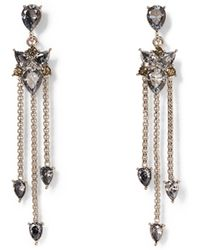 Vince Camuto - Silvertone Jewel-spike Chandelier Earrings - Lyst