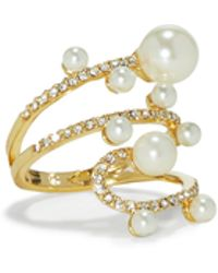 Vince Camuto - Jewel & Faux Pearl Wrap Ring - Lyst