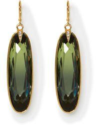 Vince Camuto - Green Jewel Oval Earrings - Lyst