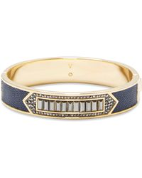 Vince Camuto - Leather-inlay Jewelled Bracelet - Lyst