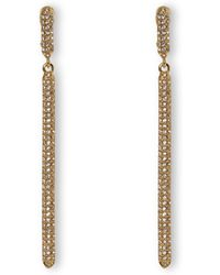 Vince Camuto - Goldtone Pavé Drop Clip-on Earrings - Lyst