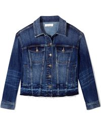 Vince Camuto - Denim Raw-edge Jacket - Lyst