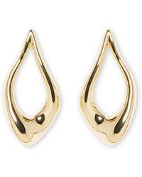 Vince Camuto - Goldtone Abstract Teardrop Hoop Earrings - Lyst
