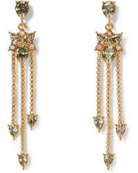 Vince Camuto - Goldtone Jewel-spike Chandelier Earrings - Lyst
