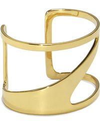 Vince Camuto - Goldtone Asymmetric Cutout Cuff - Lyst