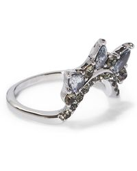 Vince Camuto - Silvertone Jewel-spike Curved Ring - Lyst