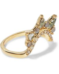 Vince Camuto - Goldtone Jewel-spike Curved Ring - Lyst