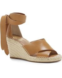 bde2894cf35 Vince camuto Ilina Flat Toe Post Sandals in Brown