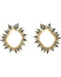 Vince Camuto - Goldtone Jewel-spike Wraparound Earrings - Lyst