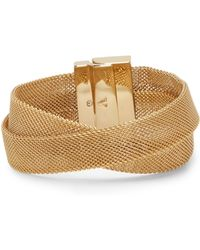 Vince Camuto - Mesh Crisscross Bracelet - Lyst
