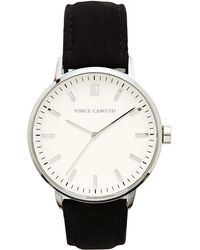 Vince Camuto - Black Classic Suede Band Watch - Lyst