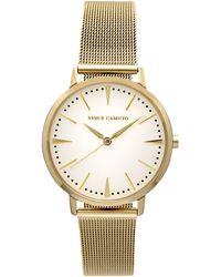 Vince Camuto - Goldtone Mesh-bracelet Watch - Lyst