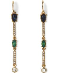 Vince Camuto - Mixed-jewel Linear Earrings - Lyst