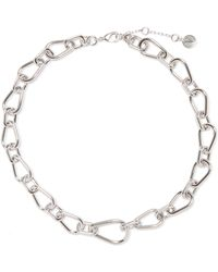 Vince Camuto - Silvertone Chain Link Necklace - Lyst