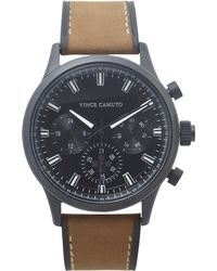 Vince Camuto - Triple-subdial Leather-band Watch - Lyst