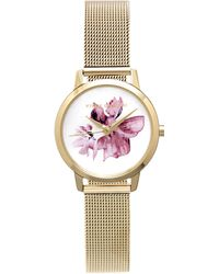 Vince Camuto - Floral Mesh-band Watch - Lyst