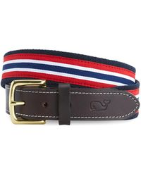Vineyard Vines - Prep Stripe Canvas Club Belt - Lyst