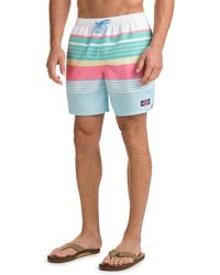 Vineyard Vines | Boca Bay Stripe Chappy Trunks | Lyst