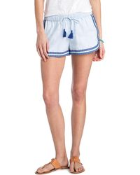 Vineyard Vines - Sea Spray Stripe Embroidered Pull On Shorts - Lyst