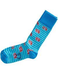 Vineyard Vines - Kentucky Derby Rose Socks - Lyst
