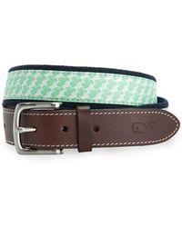 efaa02ba2715d Lyst - Ted Baker Geo Print Leather Belt in Blue for Men