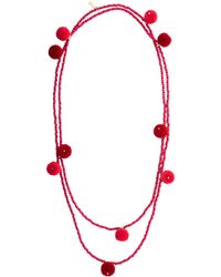 Vineyard Vines - Beaded Pom Pom Necklace - Lyst
