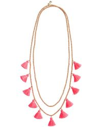 Vineyard Vines - Wrap Layered Tassel Necklace - Lyst
