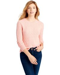 Vineyard Vines - Plaited Cashmere Coral Lane Sweater - Lyst
