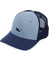 d1288c8870605 Lyst - Vineyard Vines High Profile Surf Label Trucker Hat in Red for Men