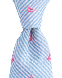 Vineyard Vines - Seersucker Sailboats Kennedy Tie - Lyst