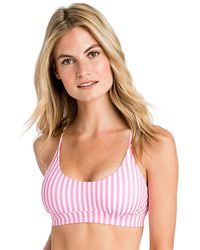 Vineyard Vines - Keel Stripe Cross Bikini Top - Lyst