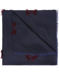 KENZO - Embroidered Shawl - Lyst