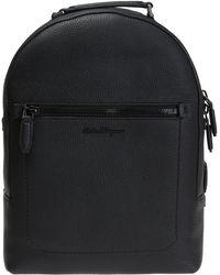 Ferragamo - Backpack With Metal Logo - Lyst