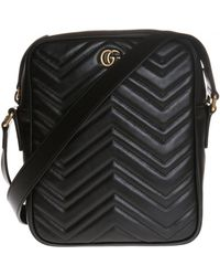37bf9e0a2c5 Gucci -  GG Marmont  Quilted Shoulder Bag With A Logo - Lyst
