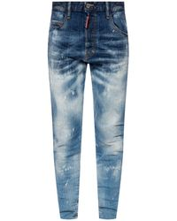 DSquared² 'skinny Dan Jean' Stonewashed Jeans - Blue