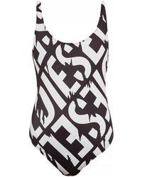 DIESEL - Branded One-piece Swimsuit - Lyst