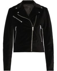 Rag & Bone - Bowery Denim Biker Jacket - Lyst