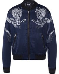 Just Cavalli - Embroidered Bomber Jacket - Lyst