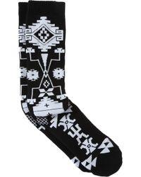 Marcelo Burlon - Logo Knee Socks - Lyst