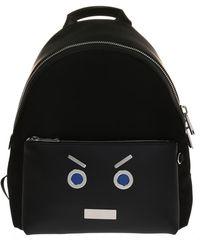 48d91d70f606 Lyst - Fendi Men s Black Leather Backpack in Black for Men