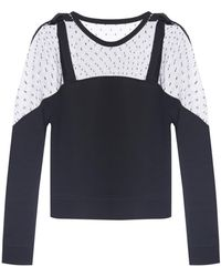 RED Valentino - Lace-trimmed Sweatshirt - Lyst