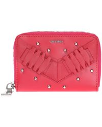 DIESEL - Wallet With Studs - Lyst
