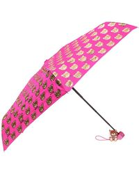 Moschino - Patterned Umbrella With Teddy Bear - Lyst