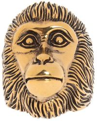 Gucci Ring With A Monkey's Head Motif - Metallic