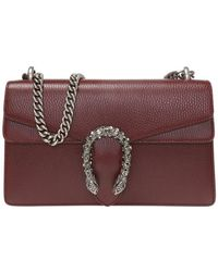 aed636120 Gucci Supermini Dionysus Leather Shoulder Bag in Natural - Lyst