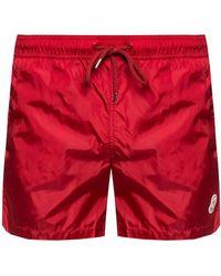 Moncler - Logo-patched Swim Shorts - Lyst