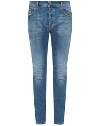 3e68bf04 DIESEL Sleenker Skinny Jeans 679q Dark Distressed Wash in Blue for Men -  Lyst